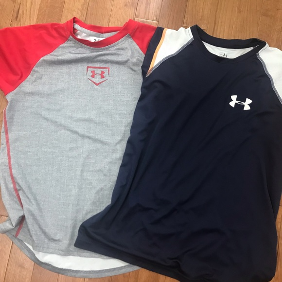 Under Armour Other - Boys Large Bundle Of 2 Under Armour Shirts